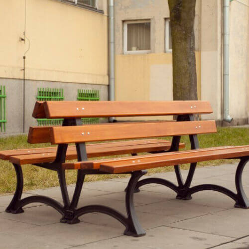 Parkové lavičky (nerezové a oceľové s drevom)