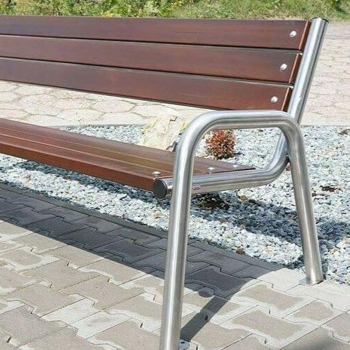 Parkové lavičky (z nerezovej a inej ocele)